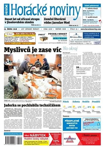 Horácké noviny - Pátek 23.2.2018 č. 015 - Elektronické noviny