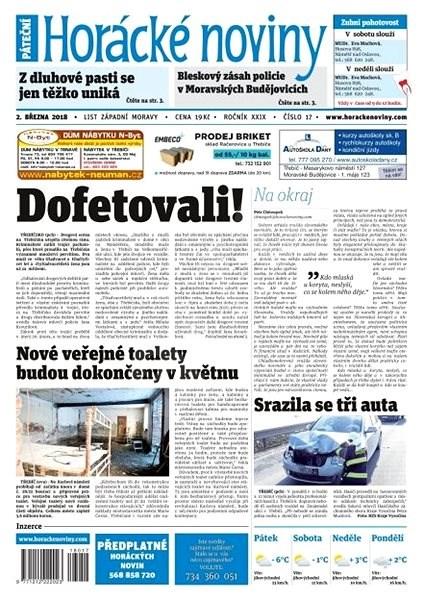 Horácké noviny - Pátek 2.3.2018 č. 017 - Elektronické noviny