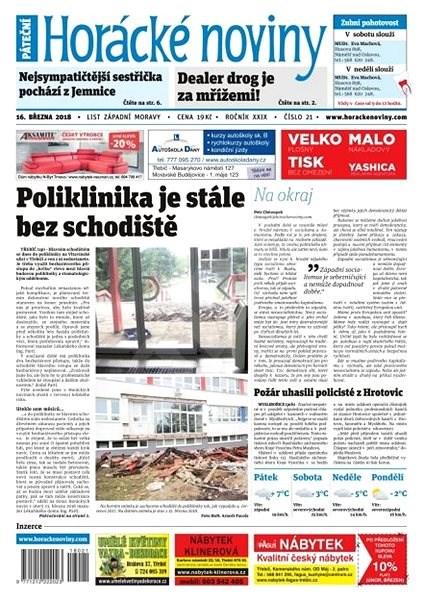 Horácké noviny - Pátek 16.3.2018 č. 021 - Elektronické noviny