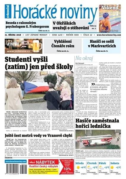 Horácké noviny - Středa 21.3.2018 č. 022 - Elektronické noviny