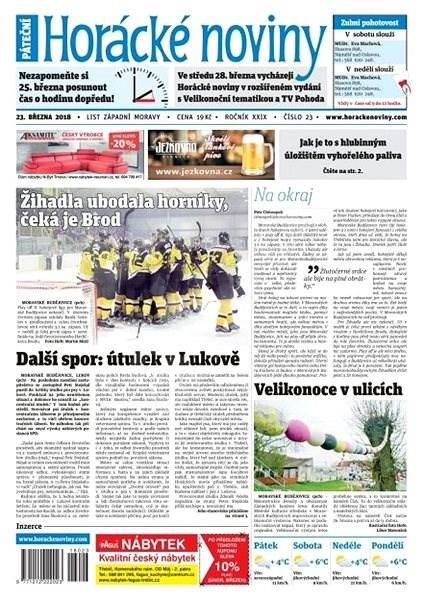 Horácké noviny - Pátek 23.3.2018 č. 023 - Elektronické noviny