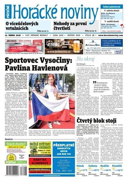 Horácké noviny - Pátek 13.4.2018 č. 028 - Elektronické noviny
