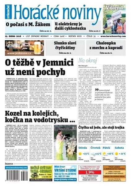 Horácké noviny - Středa 25.4.2018 č. 031 - Elektronické noviny