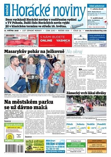 Horácké noviny - Pátek 11.5.2018 č. 034 - Elektronické noviny