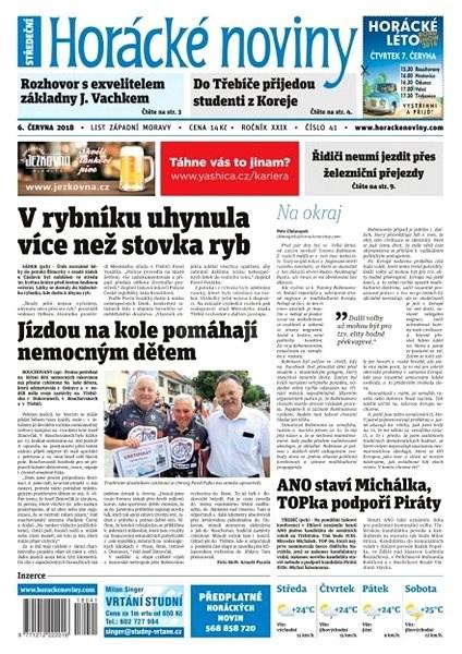 Horácké noviny - Středa 6.6.2018 č. 041 - Elektronické noviny