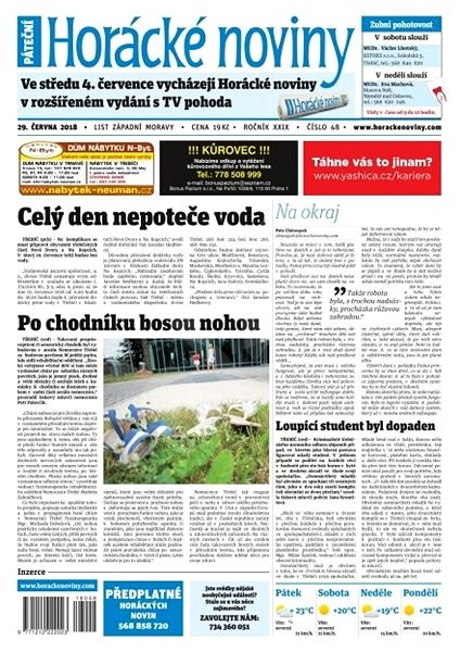 Horácké noviny - Pátek 29.6.2018 č. 048 - Elektronické noviny