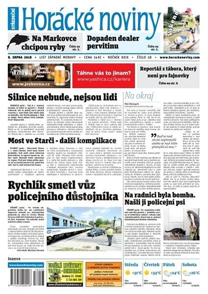 Horácké noviny - Středa 8.8.2018 č. 058 - Elektronické noviny