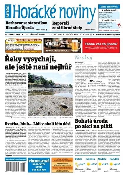 Horácké noviny - Pátek 10.8.2018 č. 059 - Elektronické noviny