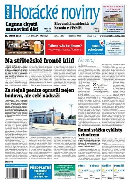 Horácké noviny - Pátek 31.8.2018 č. 065 - Elektronické noviny