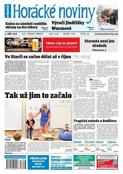 Horácké noviny - Středa 5.9.2018 č. 066 - Elektronické noviny