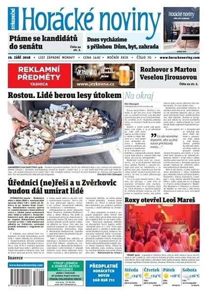 Horácké noviny - Středa 19.9.2018 č. 070 - Elektronické noviny