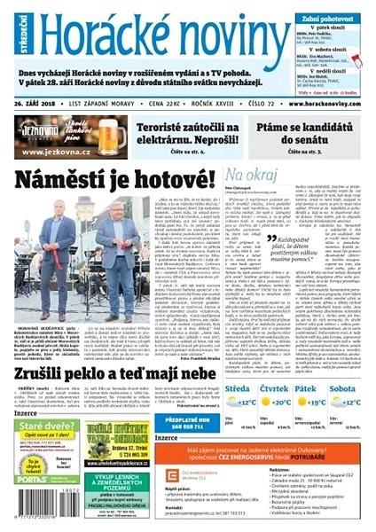 Horácké noviny - Středa 26.9.2018 č. 072 - Elektronické noviny