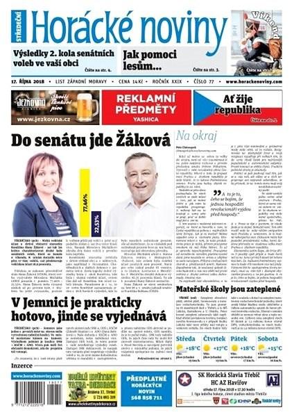 Horácké noviny - Středa 17.10.2018 č. 077 - Elektronické noviny