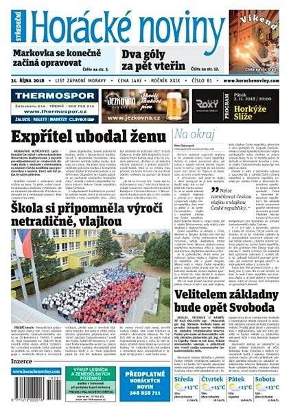 Horácké noviny - Středa 31.10.2018 č. 081 - Elektronické noviny