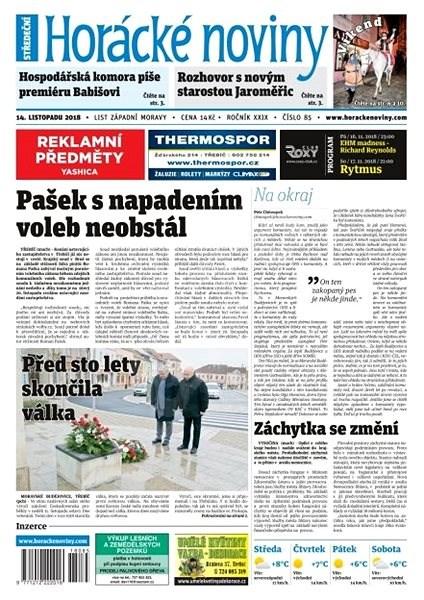Horácké noviny - Středa 14.11.2018 č. 085 - Elektronické noviny
