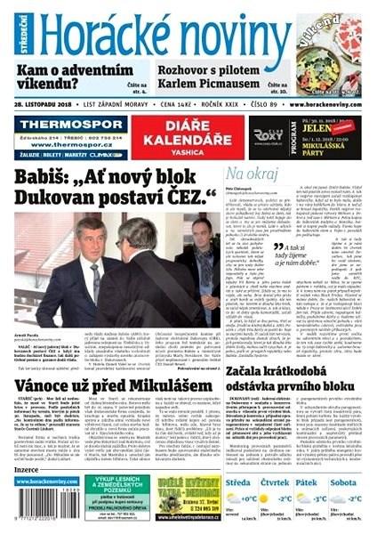 Horácké noviny - Středa 28.11.2018 č. 089 - Elektronické noviny