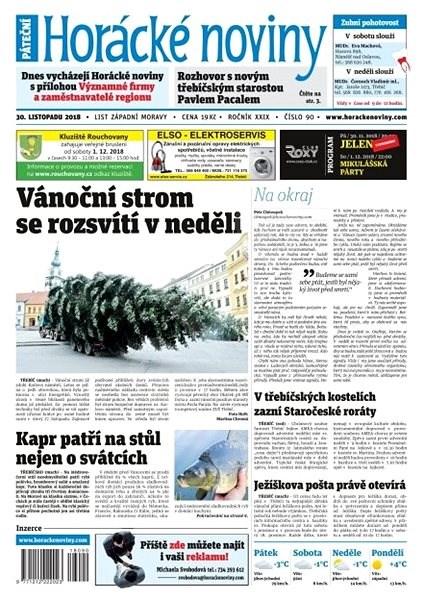 Horácké noviny - Pátek 30.11.2018 č. 090 - Elektronické noviny