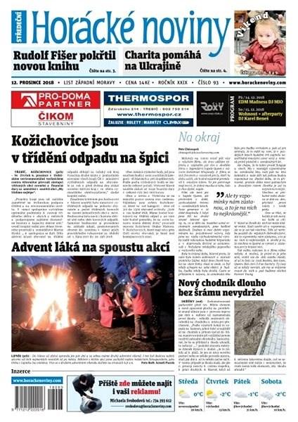 Horácké noviny - Středa 12.12.2018 č. 093 - Elektronické noviny