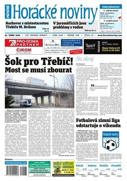 Horácké noviny - Pátek 25.1.2019 č. 007 - Elektronické noviny