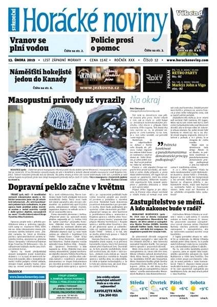 Horácké noviny - Středa 13.1.2019 č. 012 - Elektronické noviny