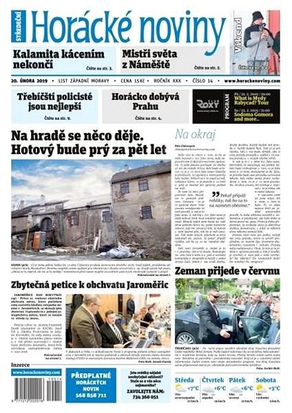 Horácké noviny - Středa 20.2.2019 č.014 - Elektronické noviny