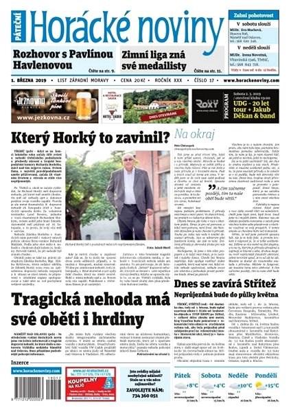 Horácké noviny - Pátek 1.3.2019 č. 017 - Elektronické noviny