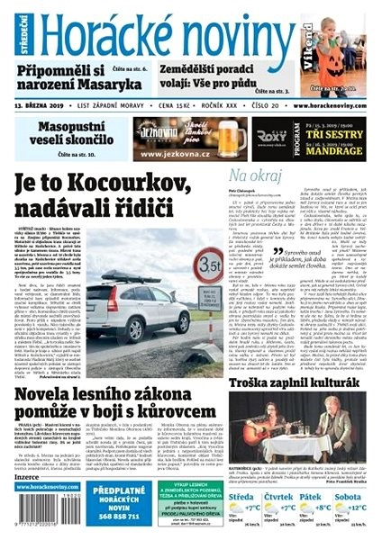 Horácké noviny - Středa 13.3.2019 č. 020 - Elektronické noviny