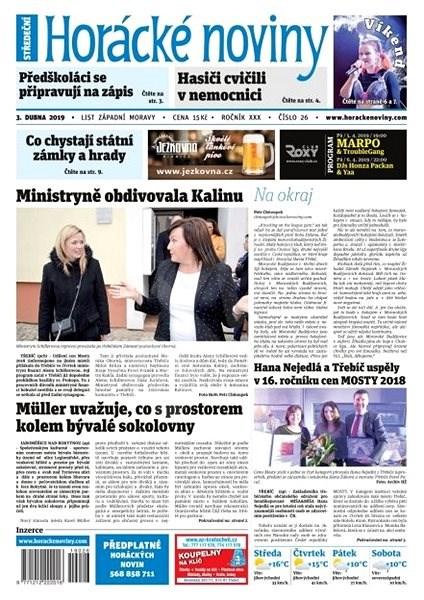 Horácké noviny - Středa 3.4.2019 č. 026 - Elektronické noviny