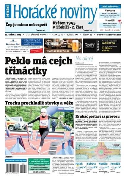 Horácké noviny - Pátek 10.5.2019 č.034 - Elektronické noviny