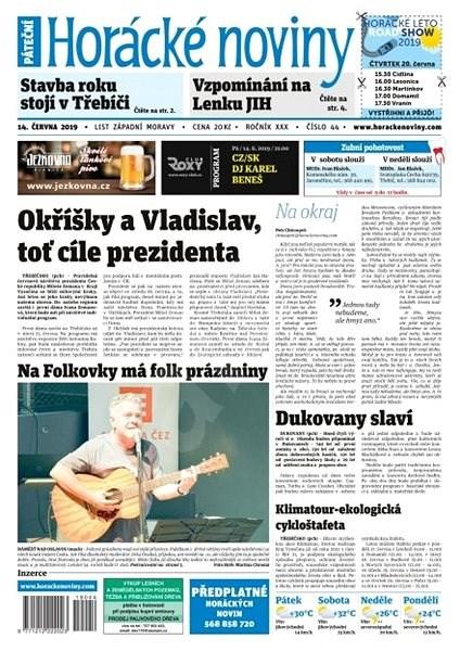 Horácké noviny - Pátek 14.6.2019 č. 044 - Elektronické noviny