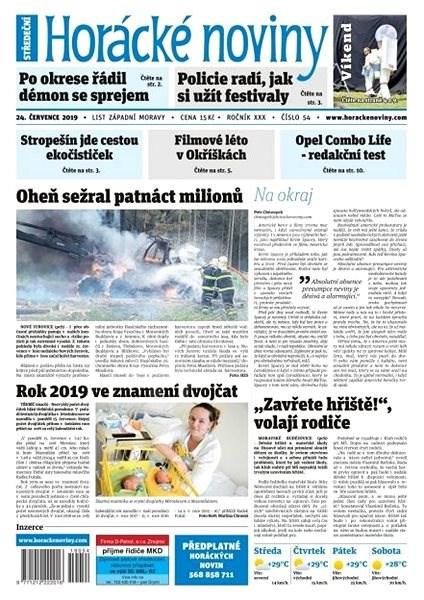 Horácké noviny - Středa 24.7.2019 č. 053 - Elektronické noviny