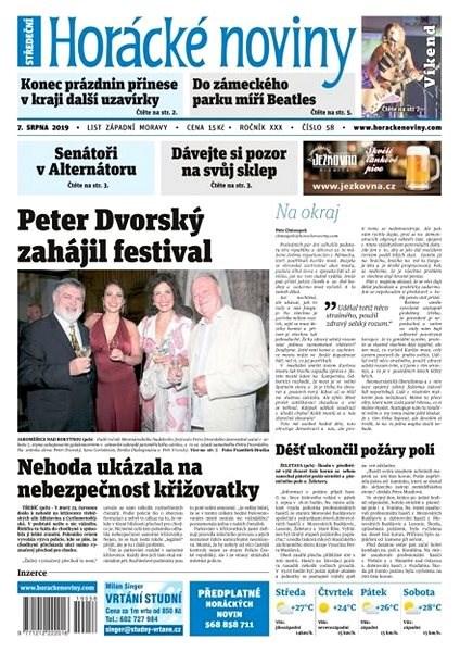 Horácké noviny - Středa 7.8.2019 č. 058 - Elektronické noviny
