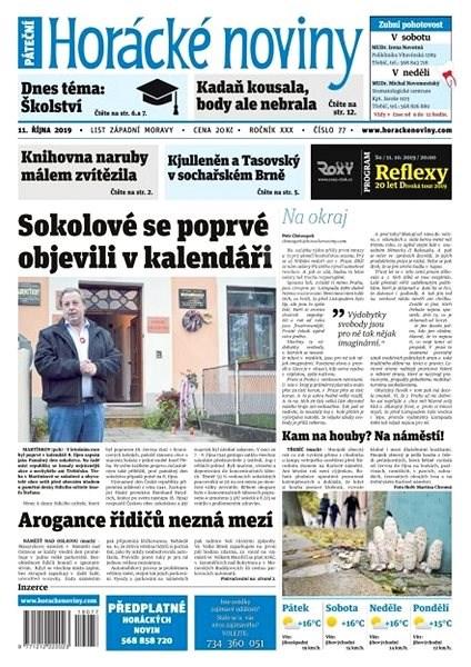 Horácké noviny - Pátek 11.10.2019 č. 077 - Elektronické noviny