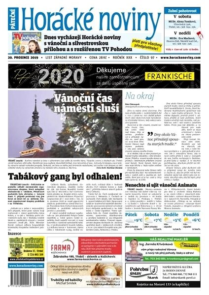 Horácké noviny - Pátek 20.12.2019 č. 097 - Elektronické noviny