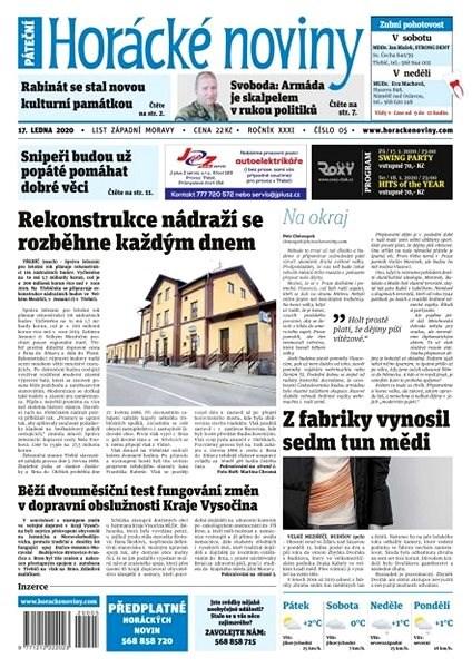 Horácké noviny - Pátek 17.1.2020 č. 005 - Elektronické noviny
