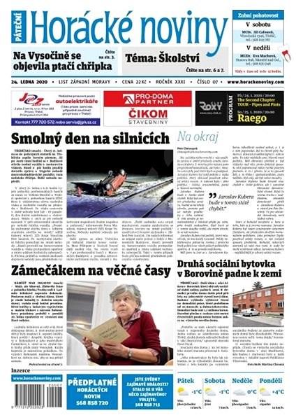 Horácké noviny - Pátek 24.1.2020 č. 007 - Elektronické noviny
