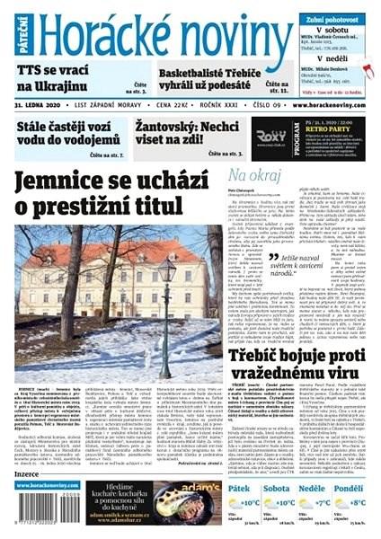 Horácké noviny - Pátek 31.1.2020 č. 009 - Elektronické noviny