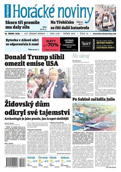 Horácké noviny - Středa 26.2.2020 č. 016 - Elektronické noviny