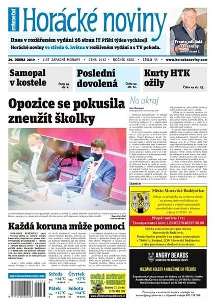 Horácké noviny - Středa 29.4.2020 č. 033 - Elektronické noviny