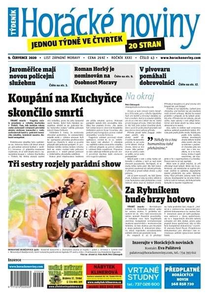 Horácké noviny - Čtvrtek  9.7.2020 č.043 - Elektronické noviny