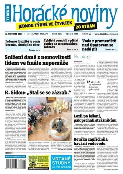 Horácké noviny - Čtvrtek 16.7.2020 č. 044 - Elektronické noviny