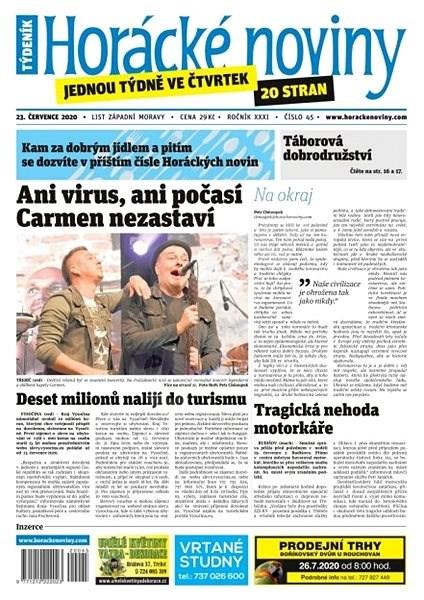 Horácké noviny - Čtvrtek 23.7.2020 č. 045 - Elektronické noviny