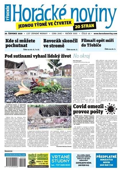 Horácké noviny - Čtvrtek 30.7.2020 č. 046 - Elektronické noviny