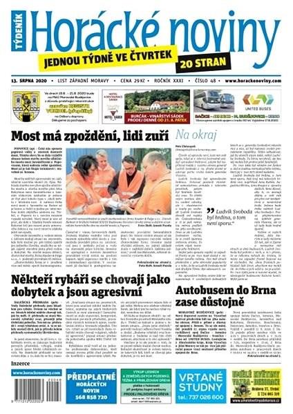 Horácké noviny - Čtvrtek 13.8.2020 č. 048 - Elektronické noviny