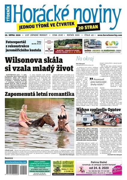Horácké noviny - Čtvrtek 20.8.2020 č. 049 - Elektronické noviny