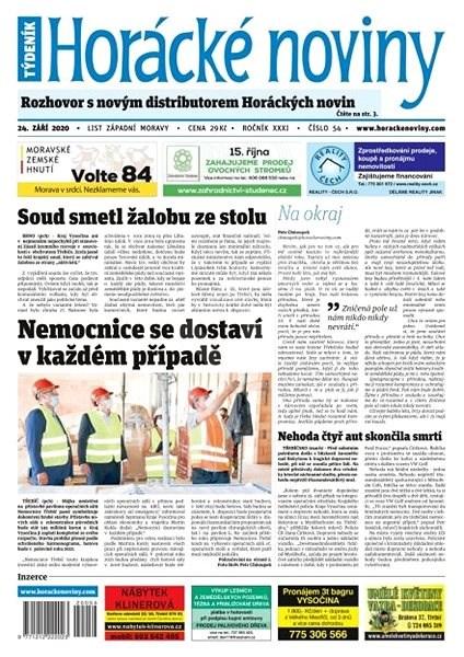 Horácké noviny - Čtvrtek 24.9.2020 č. 054 - Elektronické noviny