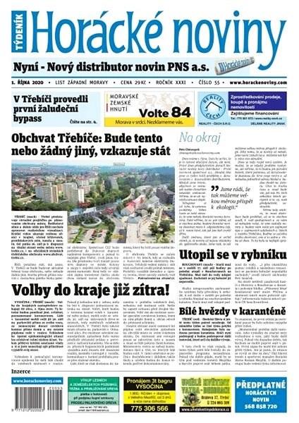 Horácké noviny - Čtvrtek 1.10.2020 č. 055 - Elektronické noviny