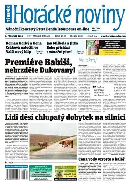 Horácké noviny - Čtvrtek 3.12.2020 č. 064 - Elektronické noviny