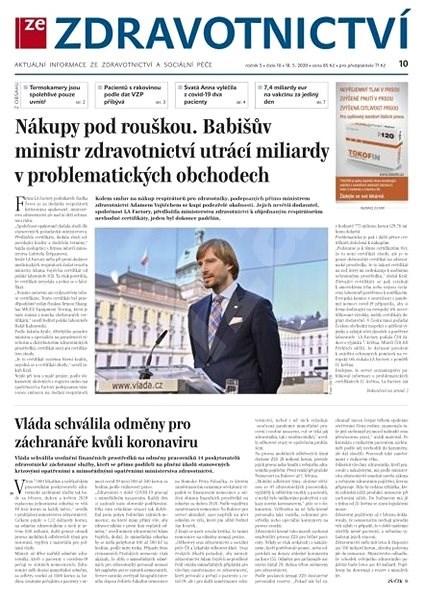 Ze zdravotnictví - 10/2020 - Elektronický časopis