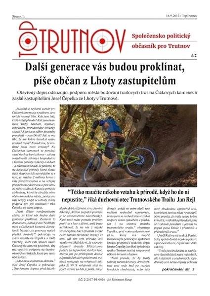 Top Trutnov - 2/2017 - Elektronický časopis